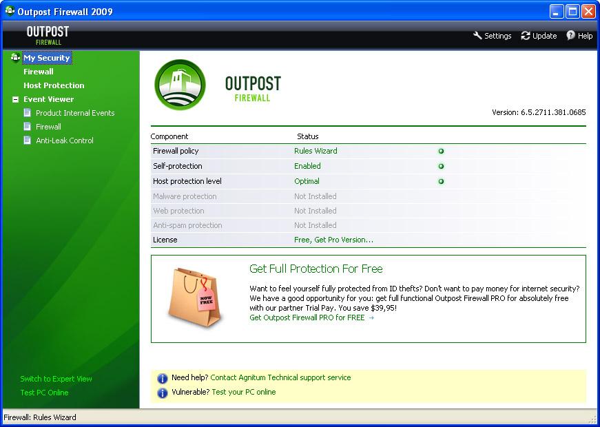 Agnitum Outpost Firewall Free