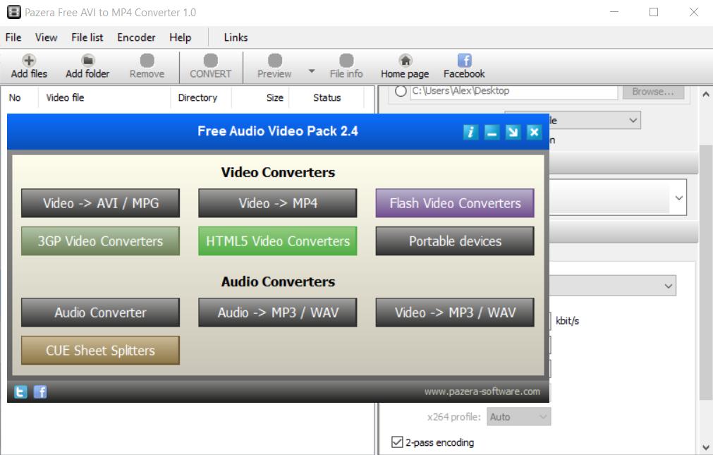 Pazera Free Audio Video Pack